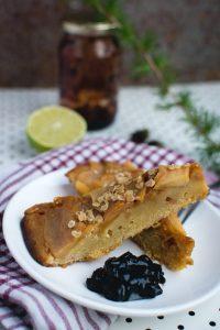 Homemade upside down apple pie