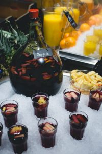 Ice cold Sangria in a cantine