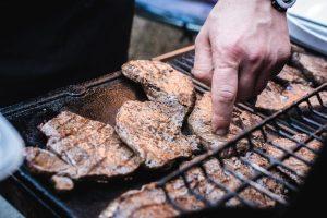 Beef steaks barbeque