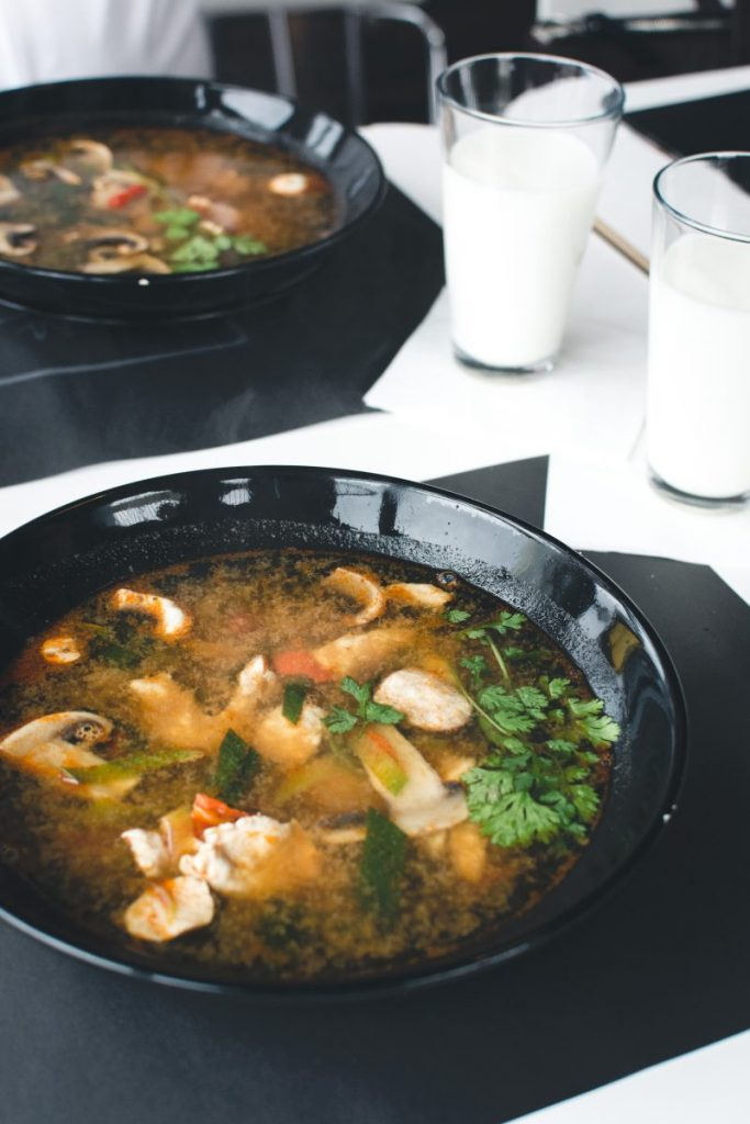 Extremely hot Thai soup