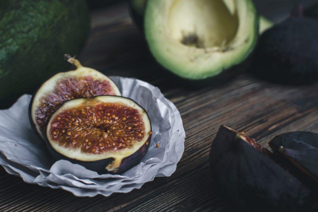 Fresh figs and avocado