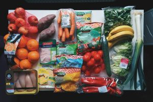 Healthy grocery full of vegetables