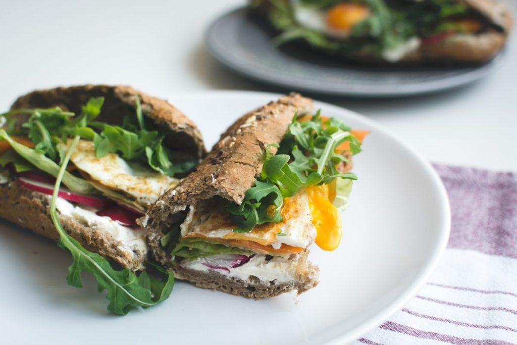Healthy homemade baguette