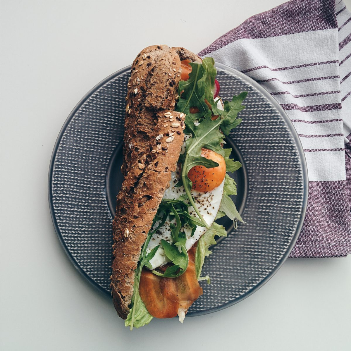 Healthy homemade baguette