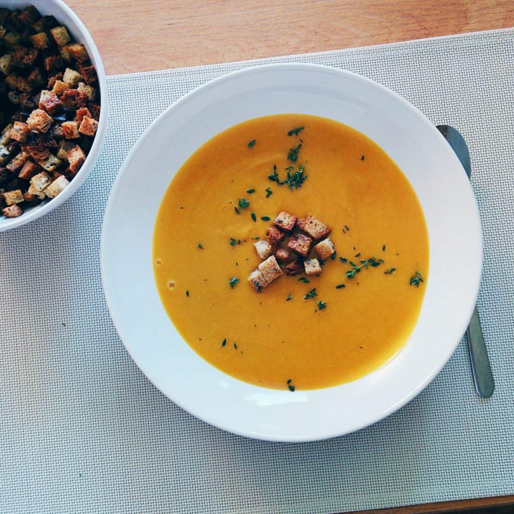 Hokkaido pumpkin soup