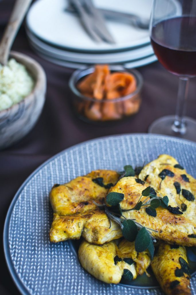 Paleo chicken breast with mashed cauliflower