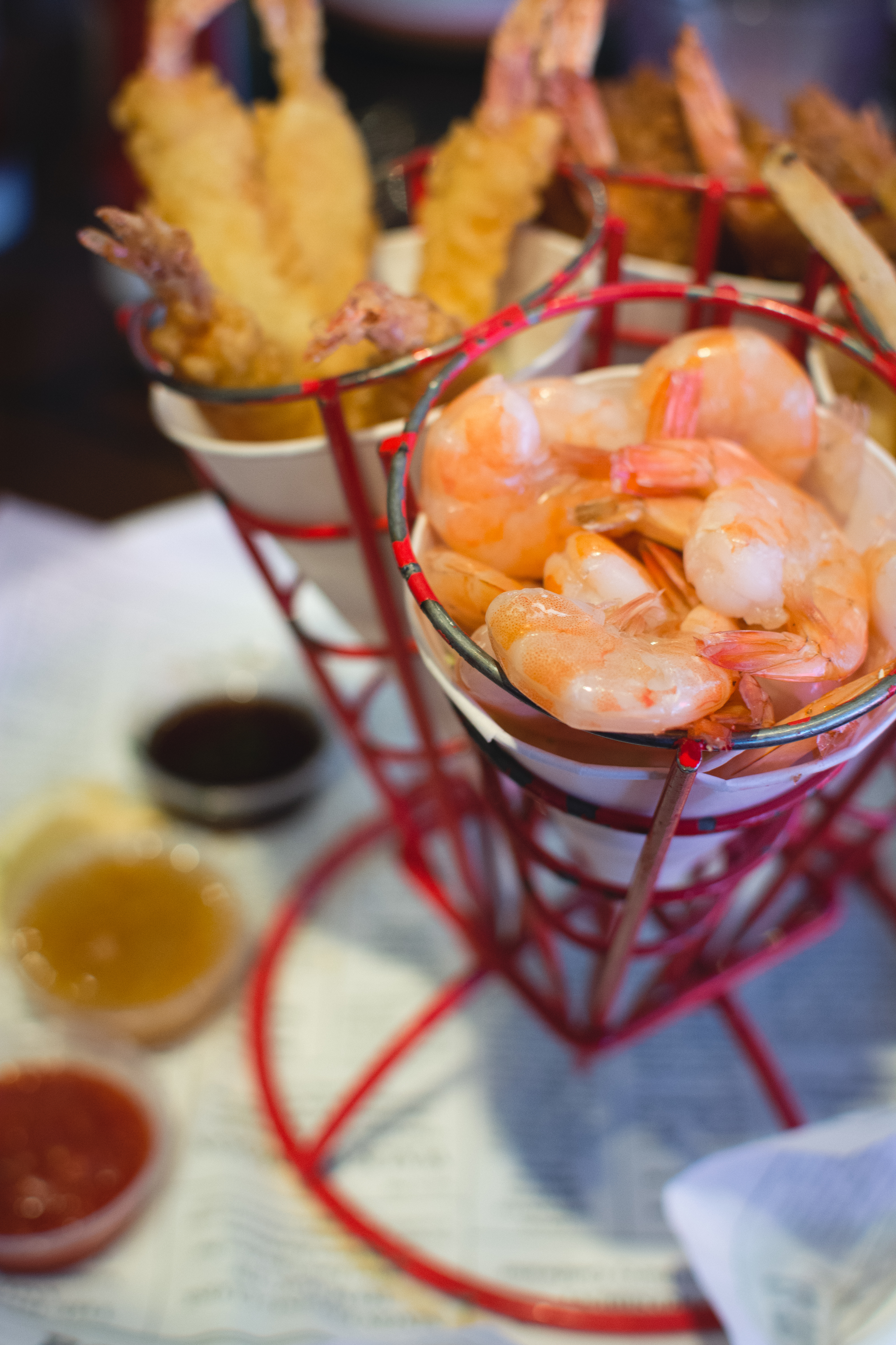 Shrimp dishes in Bubba Gump restaurant