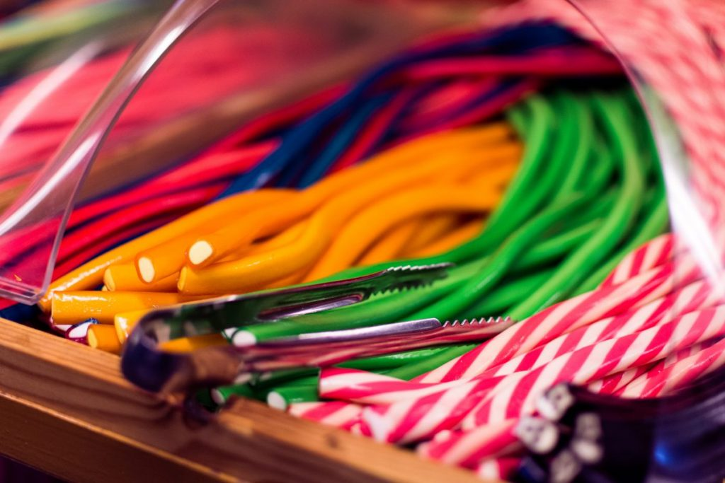 Sweet candy sticks