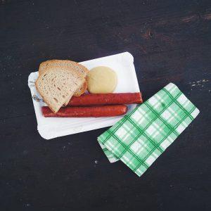 Traditional Czech smoked sausage
