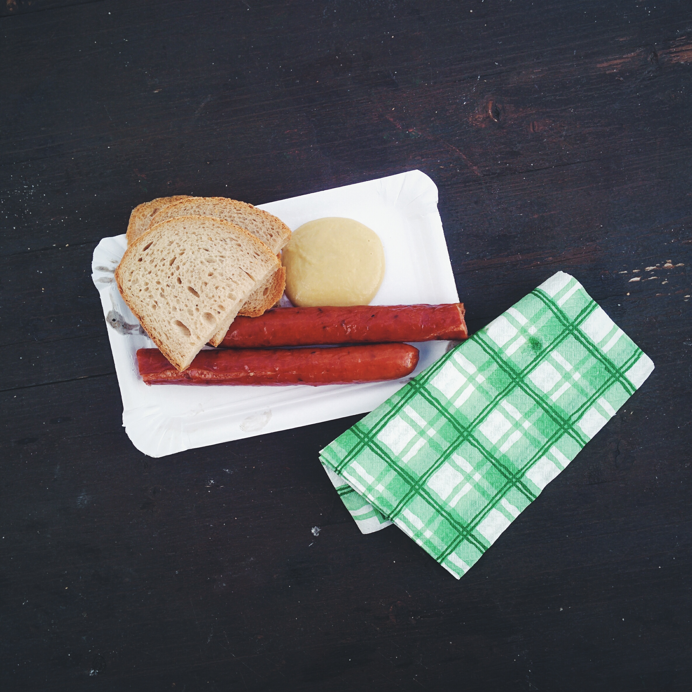 Traditional Czech smoked sausage