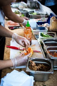 Vietnamese Banh Mi at food festival