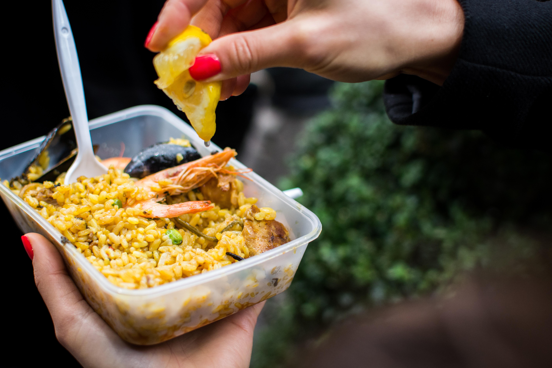 Seafood paella takeaway