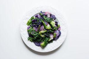 Sauteed spring seasonal vegetables
