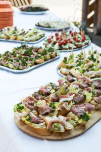 Celebration savory deli food