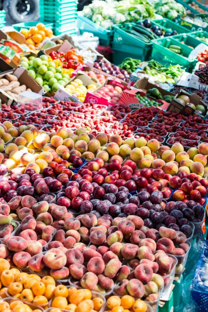 Local summer fruit market
