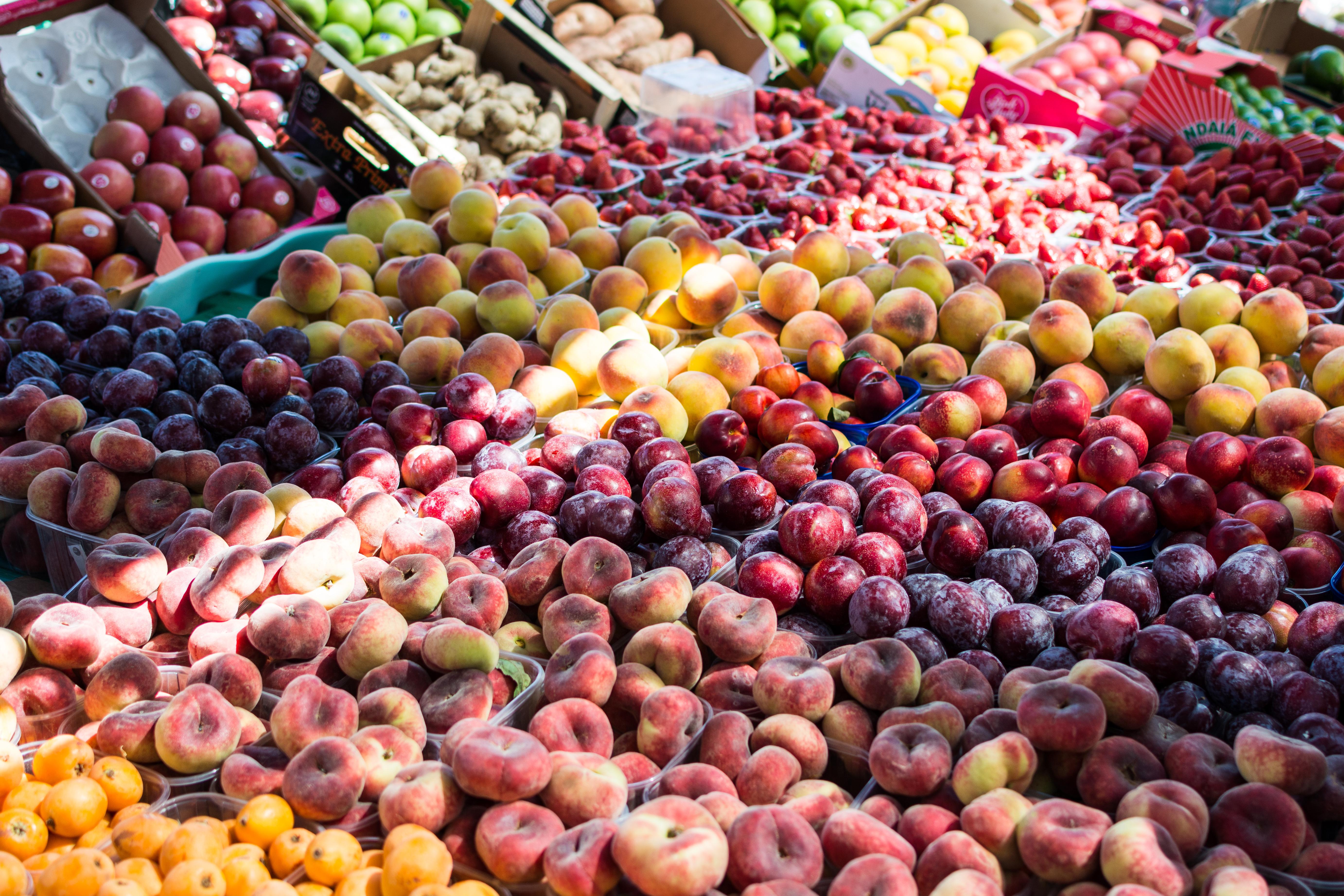 Local summer fruit market
