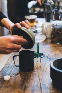Matcha tea whisking