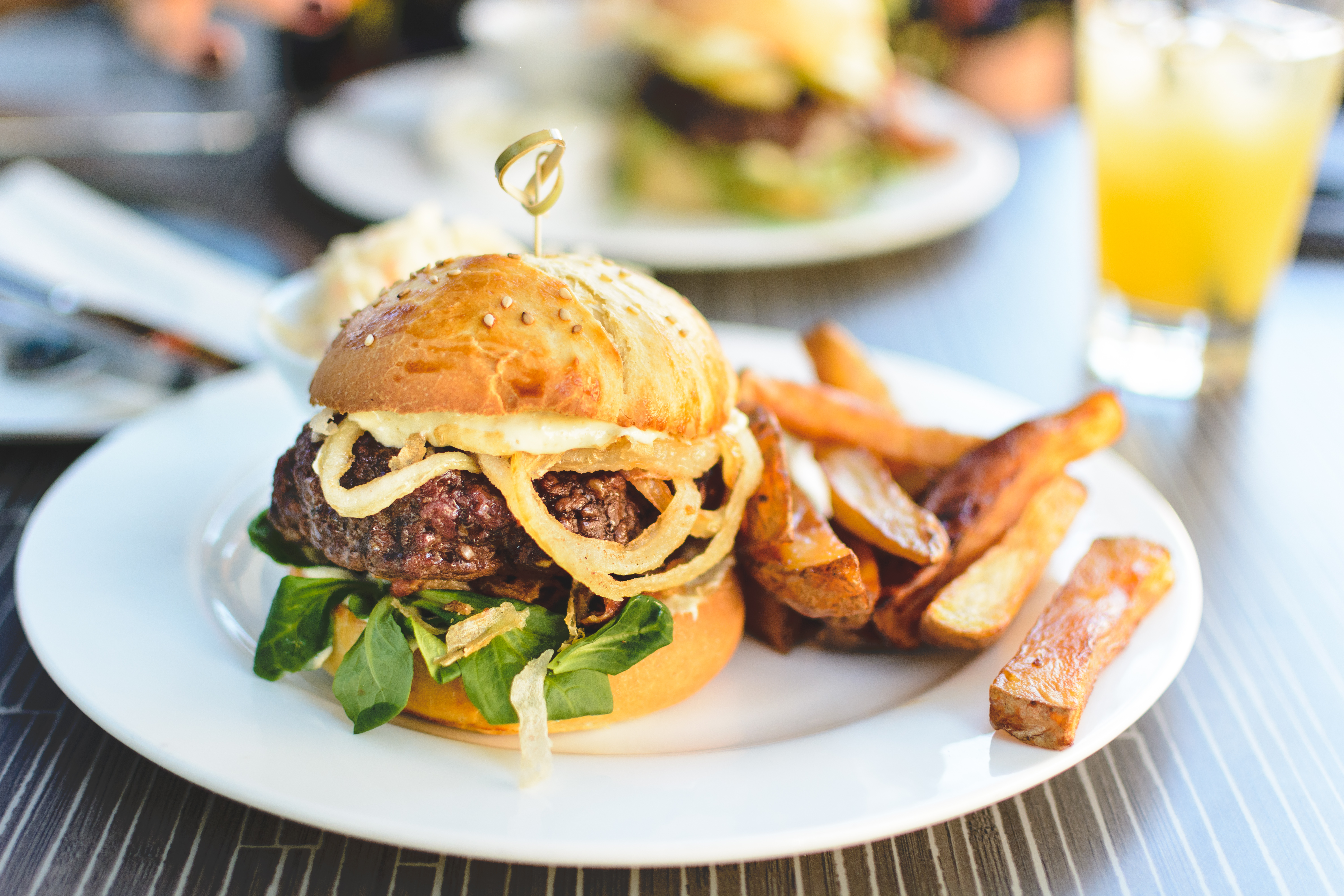 Summer juicy beef burger