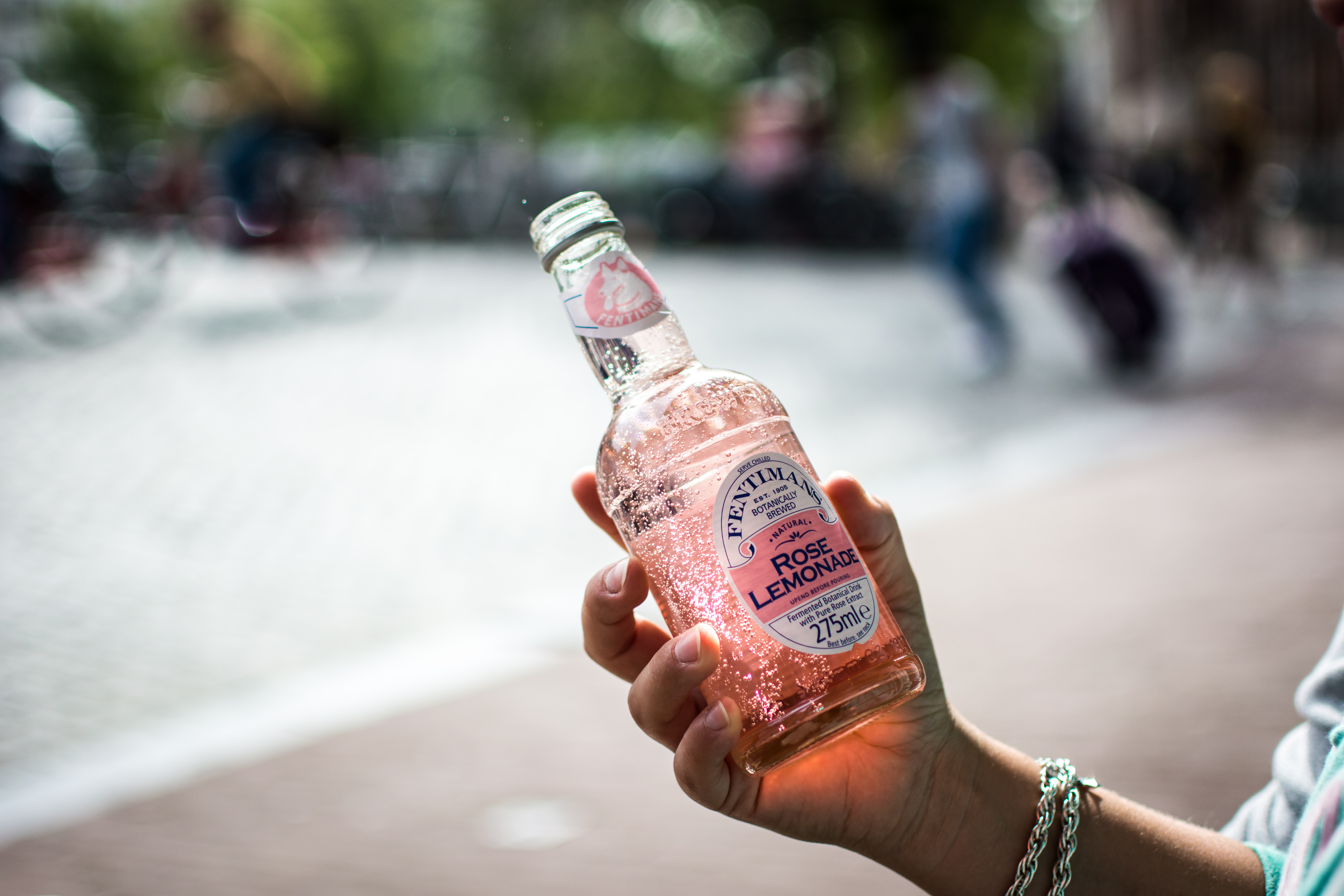 Rose lemonade in Amsterdam