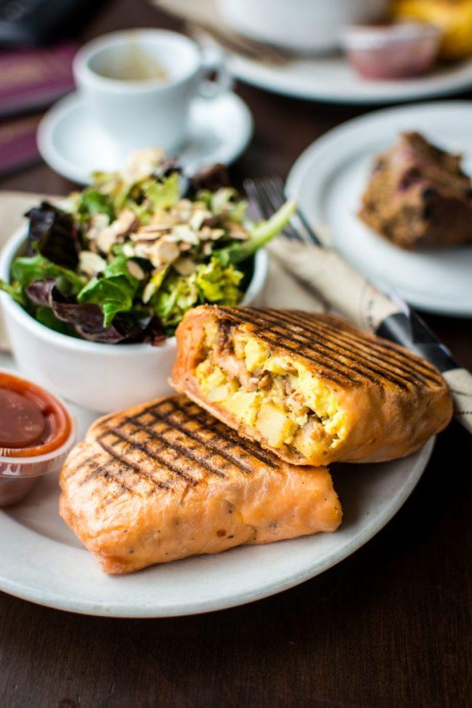 Vancouver breakfast burrito