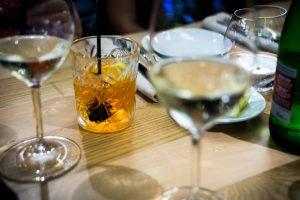 Martini with an orange