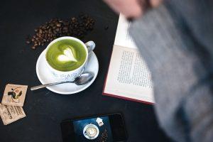 Green tea Matcha latté art