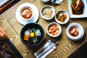 Korean meal from above