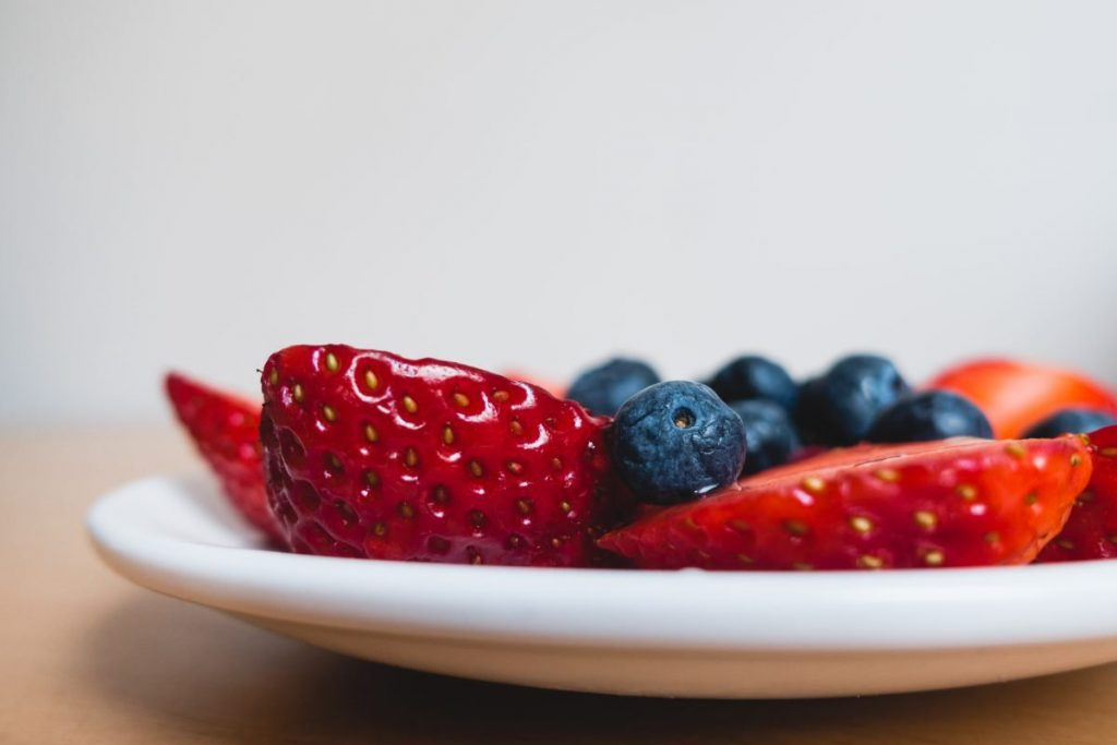 Healthy berries for snack close up