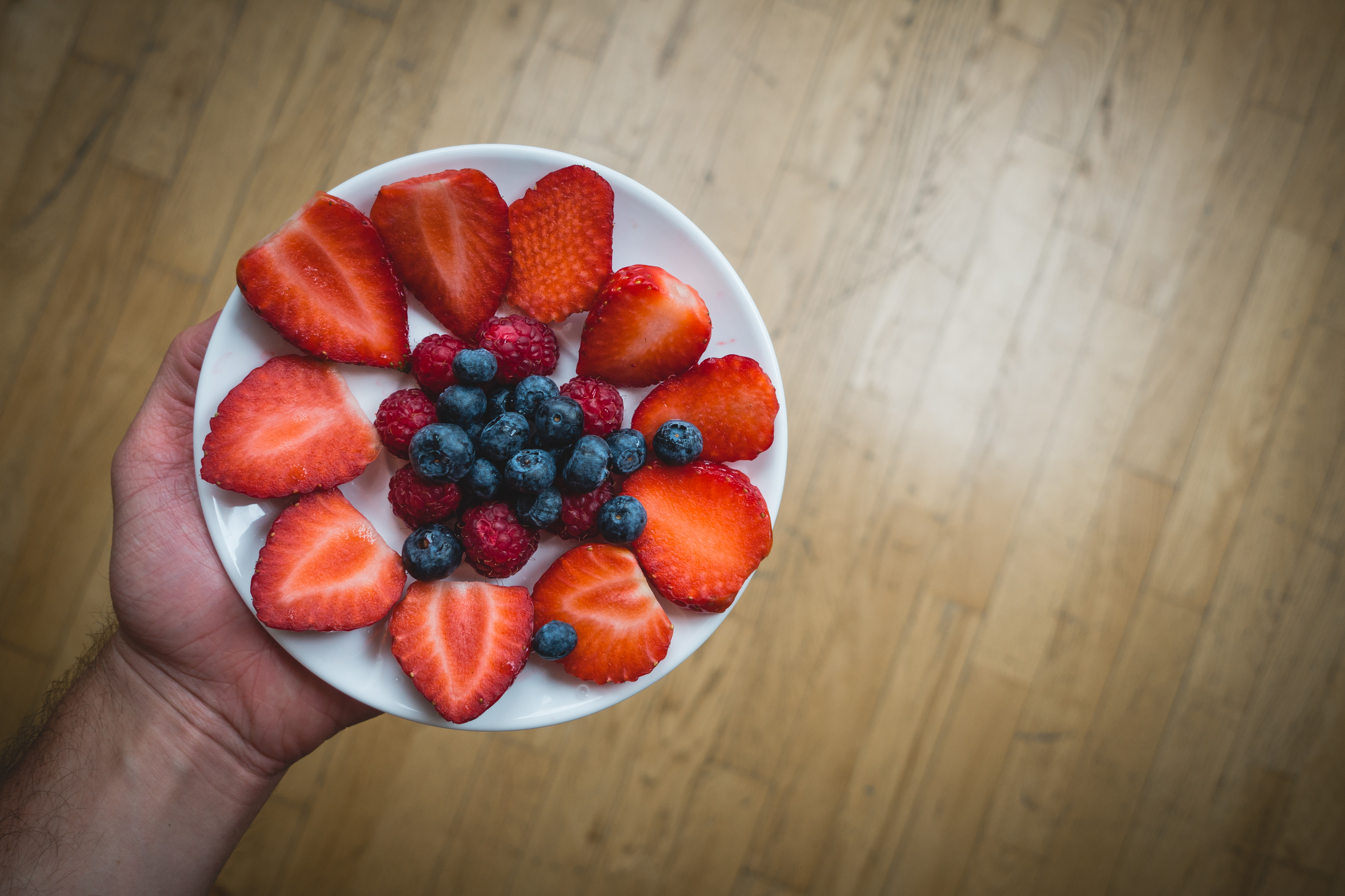 Healthy berries for snack