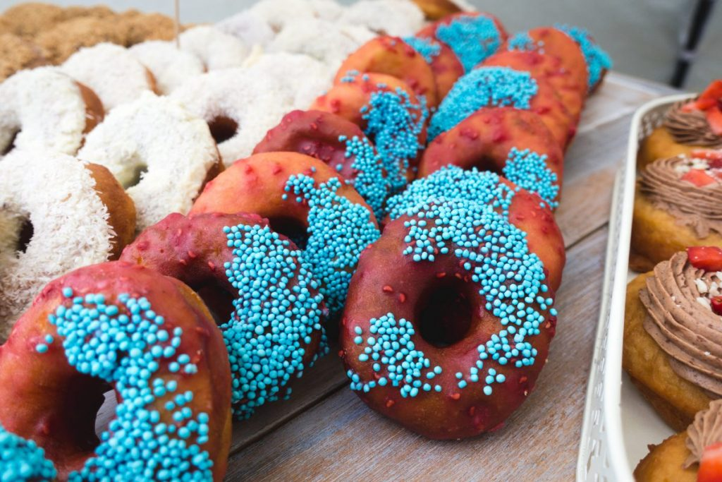 Crazy colored donuts