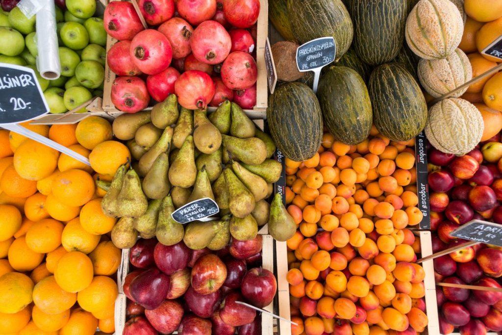 Fresh fruit in summer