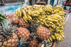 Cuban bananas and pineapples