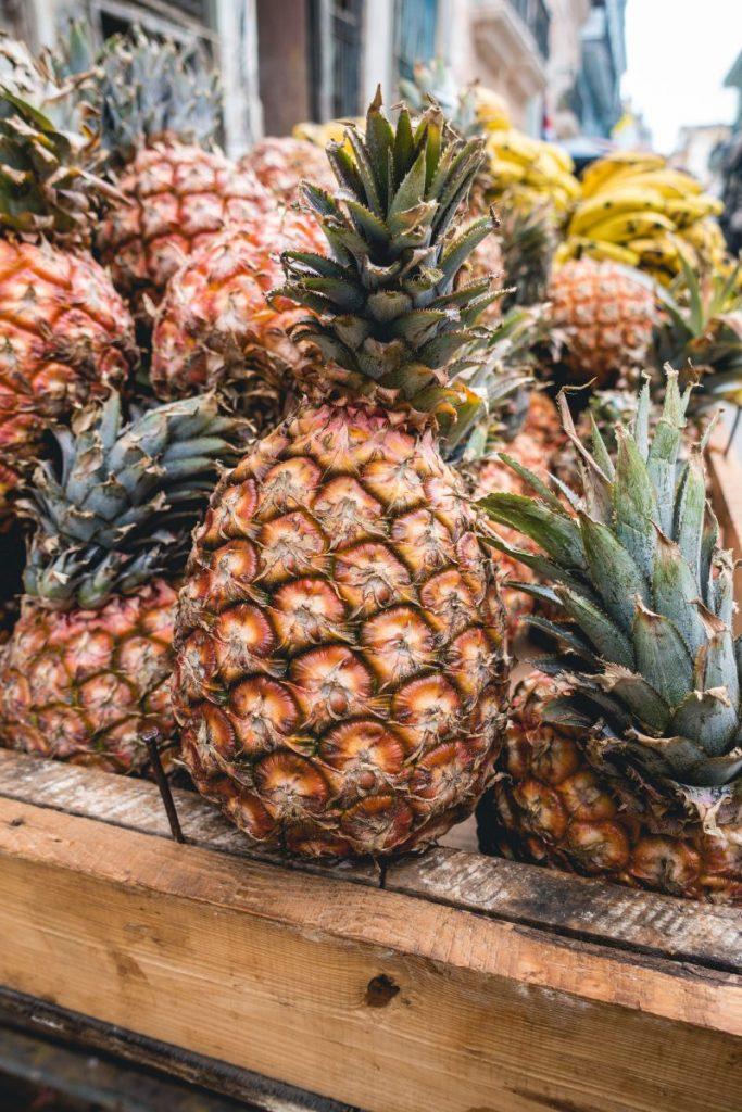 Cuban fresh pineapples