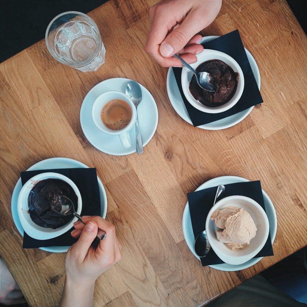 More ice cream than coffee