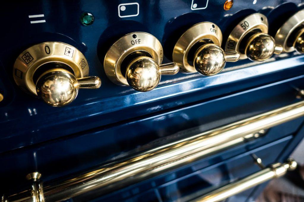 Vintage oven close up