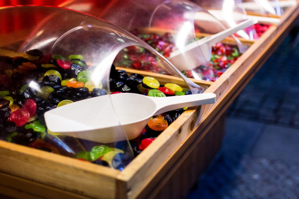 Store with sweet candies