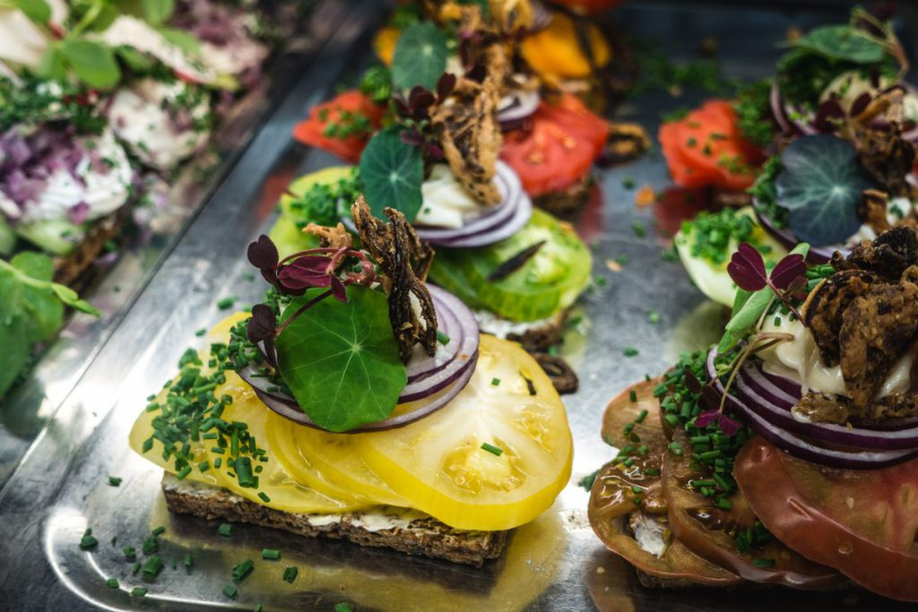 Fancy open sandwich