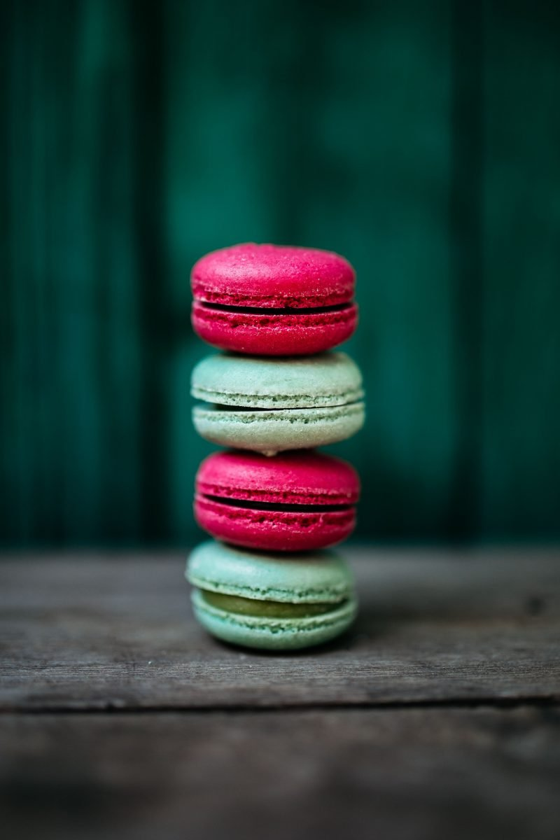 Colorful macarons tower