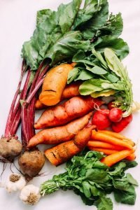 Starchy vegetables ready for a healthy dinner