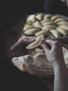 Making homemade ravioli