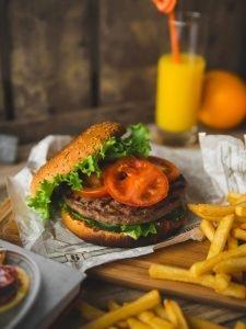 Simple American style burger