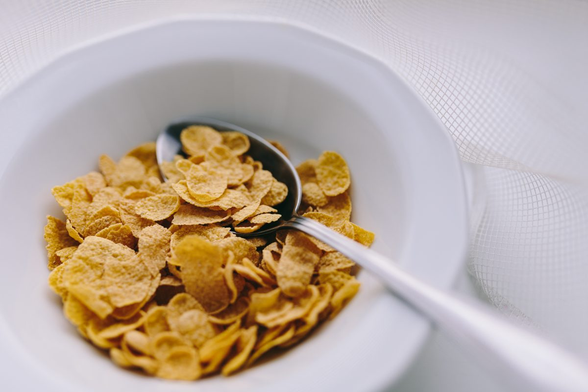 Simple bowl of cereals