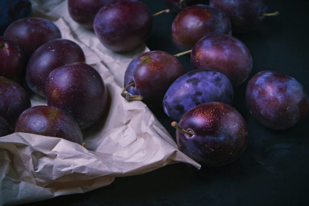 Fresh plums close up