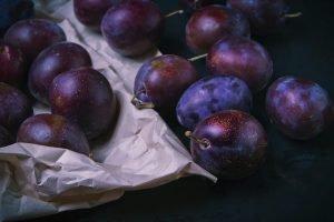 Fresh plums close up