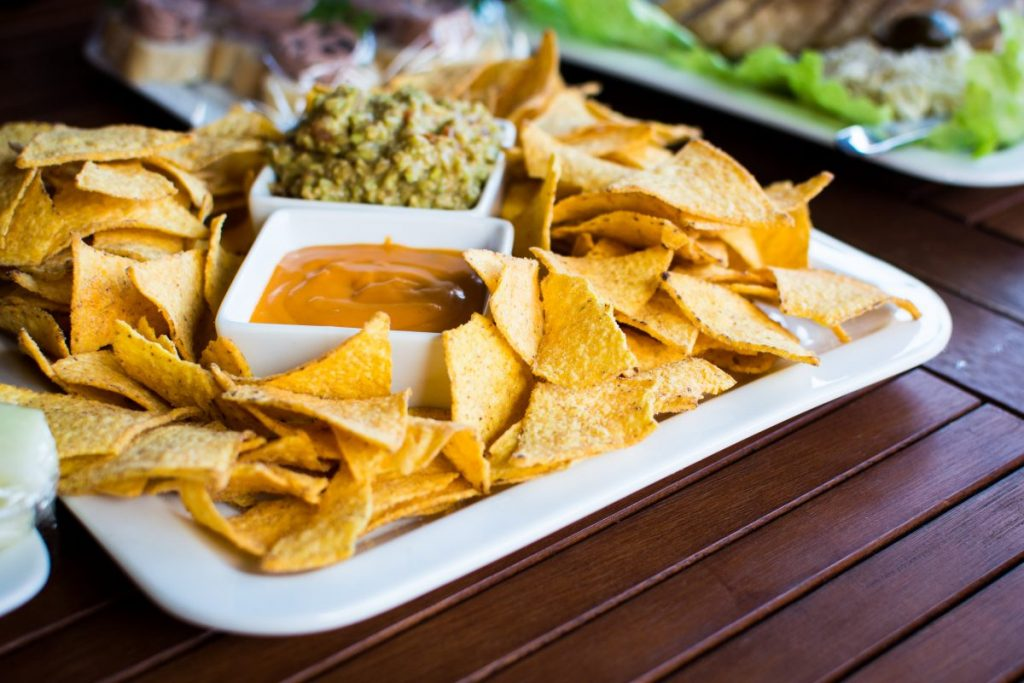 Tortilla chips with salsa