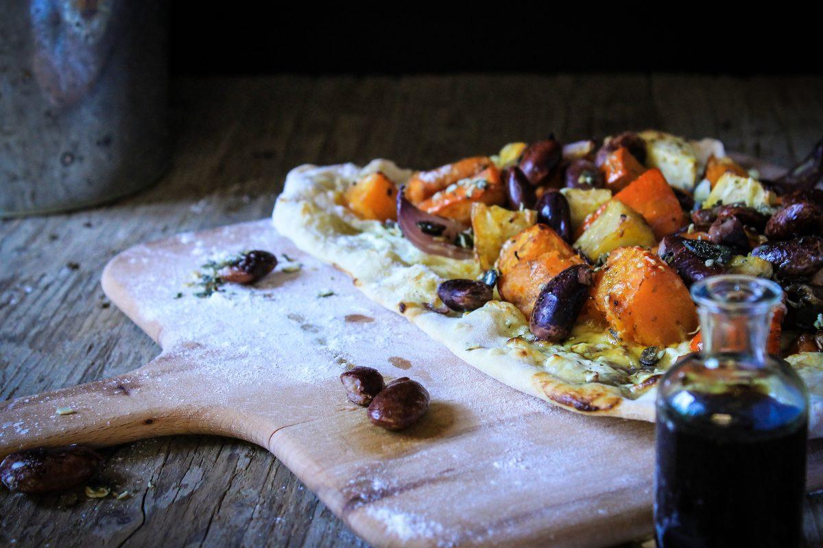 Pumpkin tarte flambee