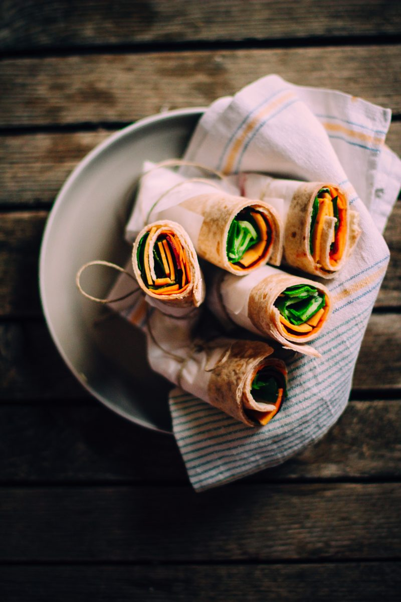 Vegan vegetables rolls