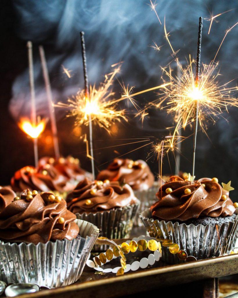 Sparkling Chocolate Cupcakes