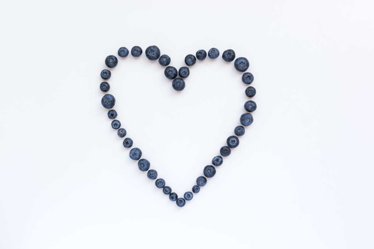 Blueberries heart