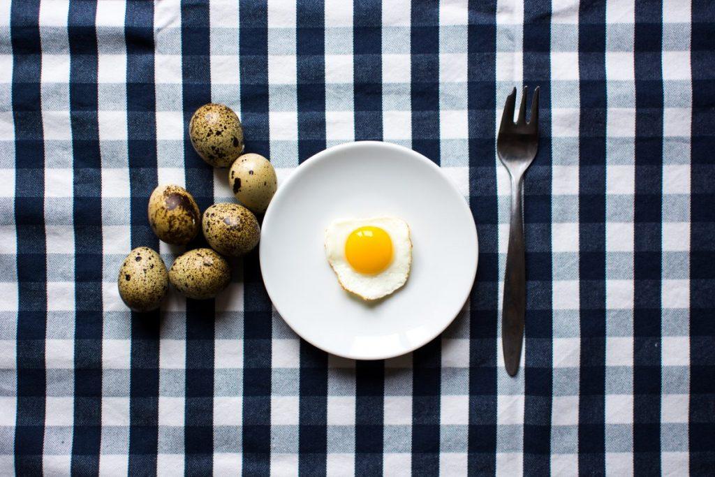 Quail egg for breakfast